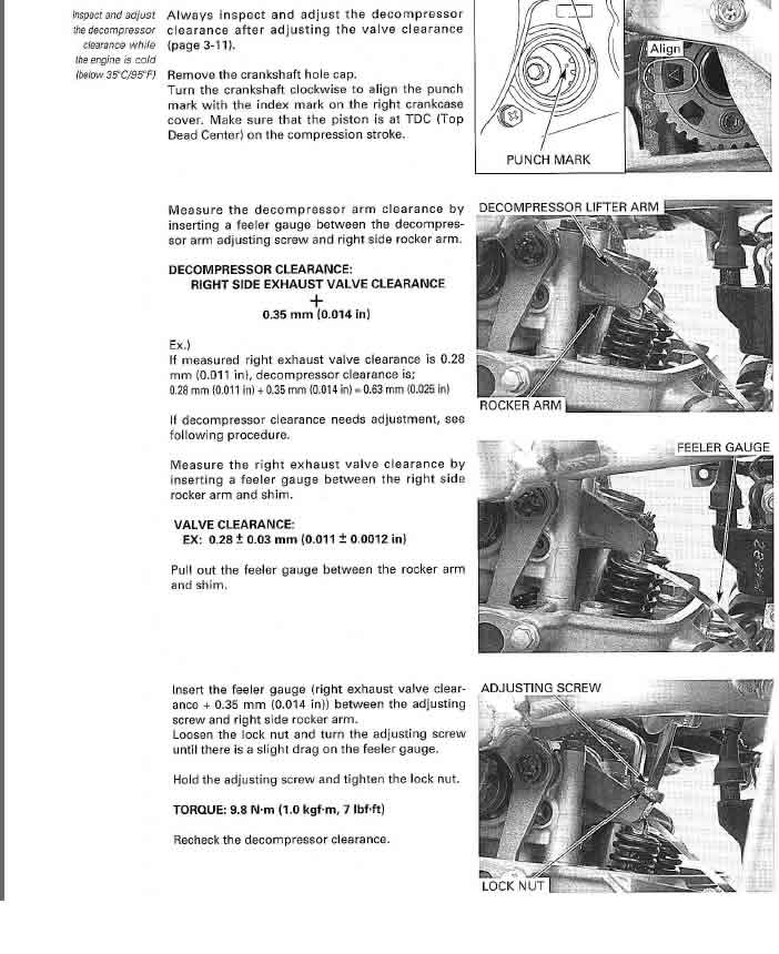 2005 crf450r auto decompression adjustment - CRF's Only Forums