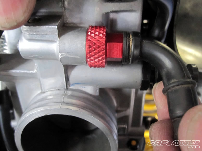 Zip Line Seat >> CRF's Only - How to install the Zip Ty Racing hot start nut on a Honda FCR carb on a CRF450R ...