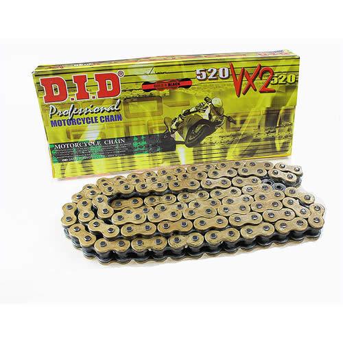 D I D  520 VX3 Gold X-Ring 120 Link Chain
