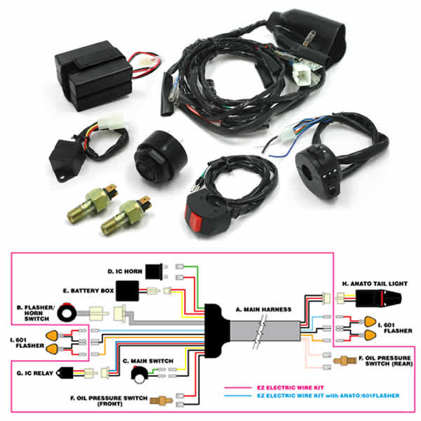 drc moto led ez electric wire kit crf s only rh crfsonly com  commax drc-40k wiring diagram